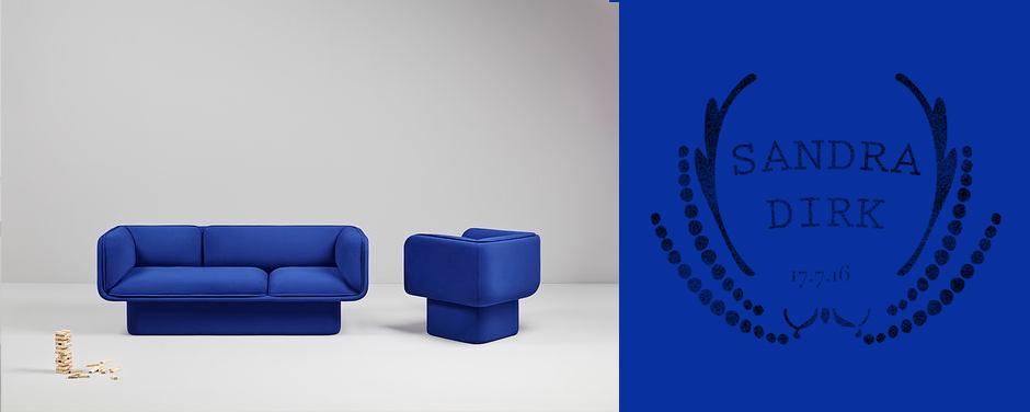 missana 2017 collection blue sofa