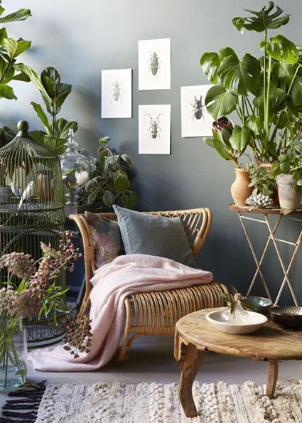 botanical interiors 2018 design trend__
